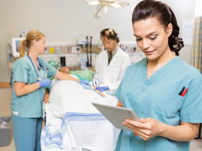 Les infirmières vous diront que vous auriez du venir plus tôt.