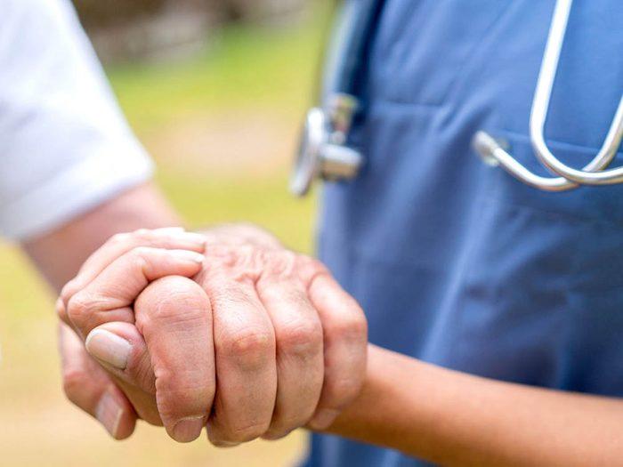 Votre vie est entre les mains des infirmières.