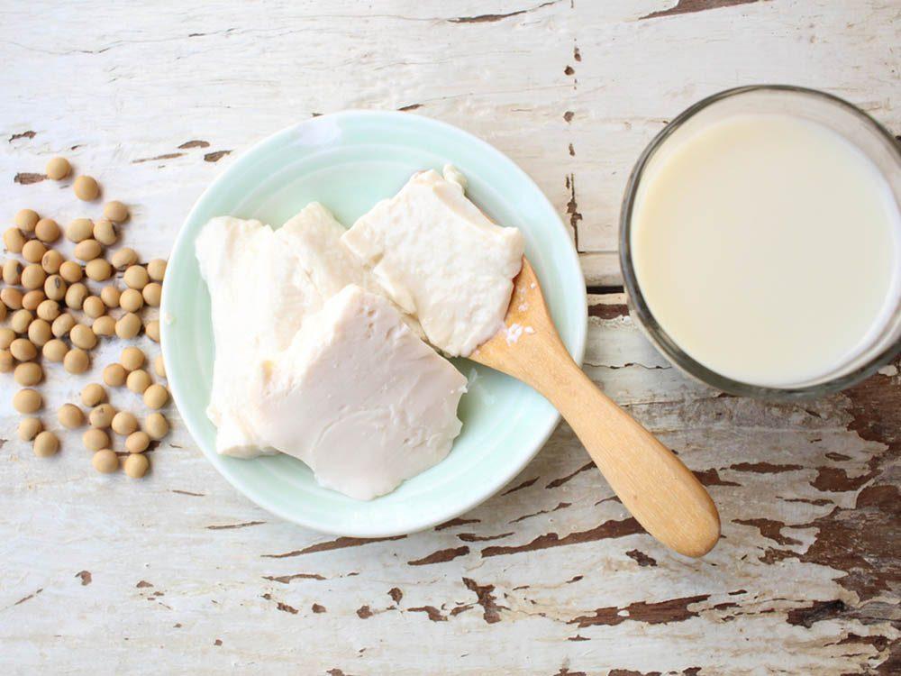 Vous pouvez remplacer votre lait de vache par une boisson au soya.