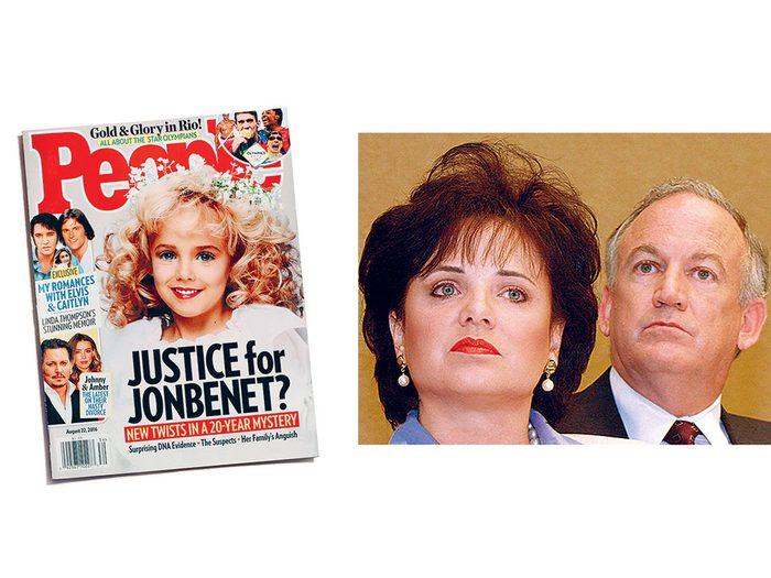 L'affaire JonBenét Ramsey fait partie des meurtres non élucidés à ce jour.