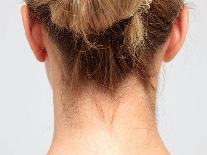L'arrière du cou est l'une des parties du corps que vous ne lavez pas assez.