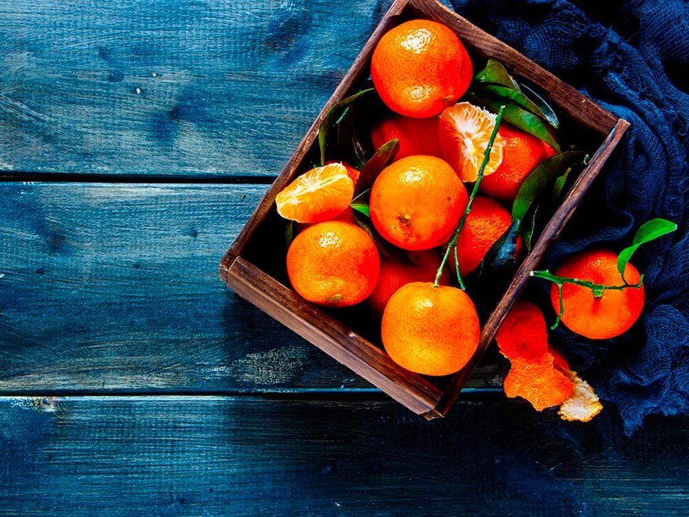 Mangez des mandarines, c'est bon pour la peau.