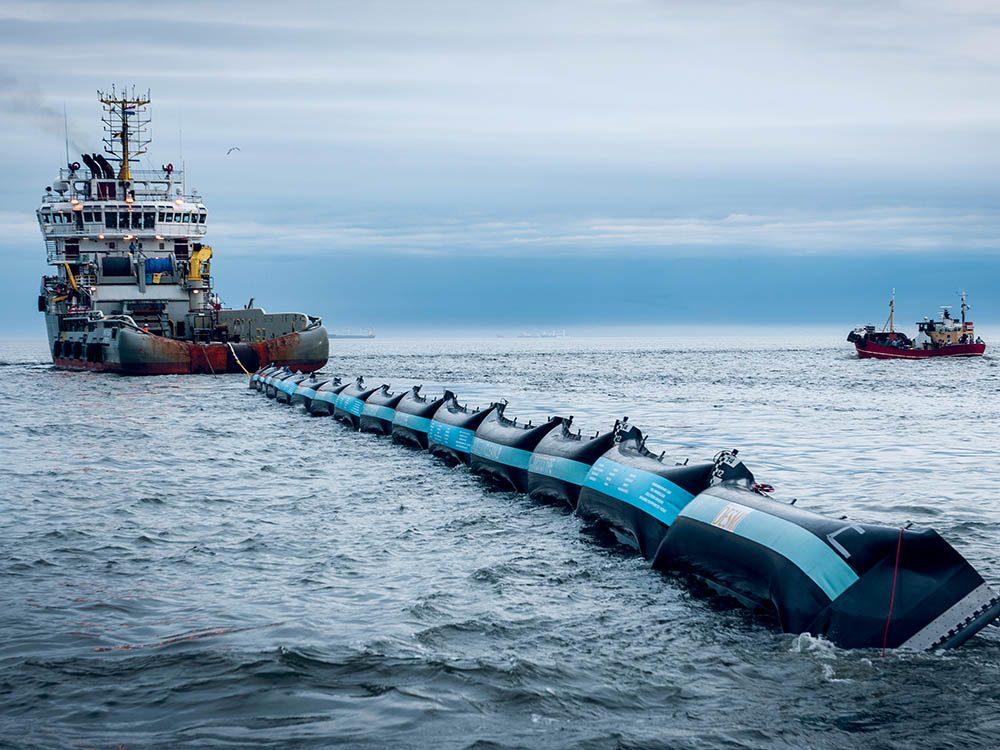 Pollution marine: le premier test du projet Ocean Cleanup est lancé en 2015.