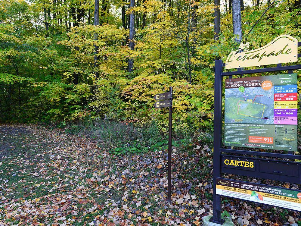 Profitez d'une randonnée pédestre sur les sentiers du Mont Rigaud.
