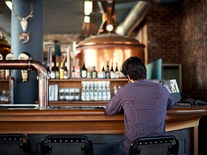 Ne tombez pas dans l'alcool ou d'autres substances après une rupture.