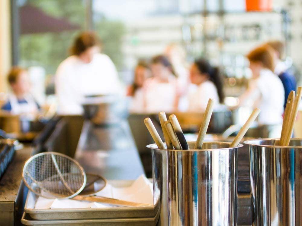Souvenir d'école lors des cours de cuisine.