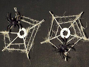 Décorations d'Halloween: Sous-verres en toiles d'araignée
