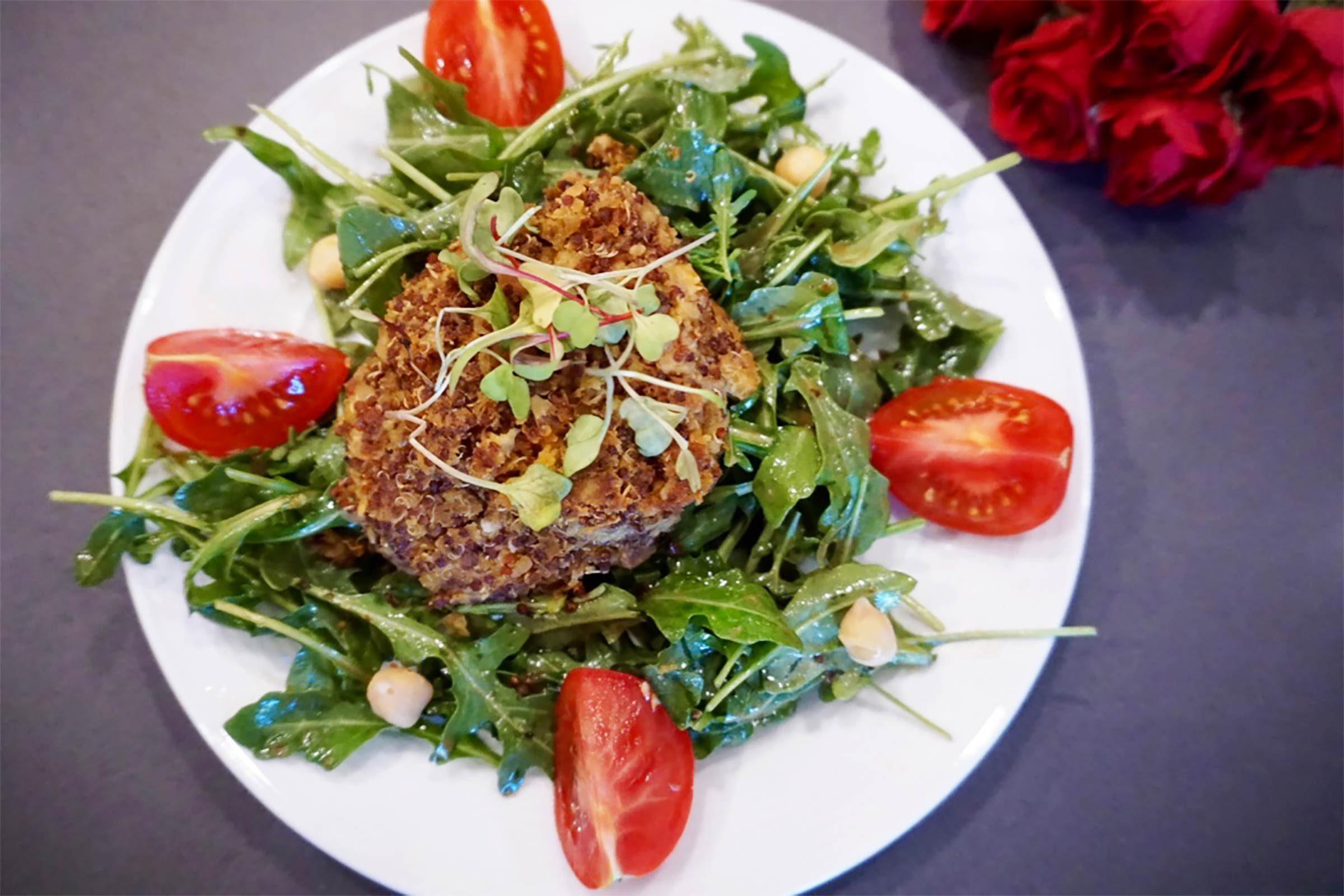 Lunch santé: Gâteaux de quinoa végétaliens