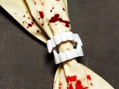 Décorations d'Halloween: Bague de serviettes « vampire »