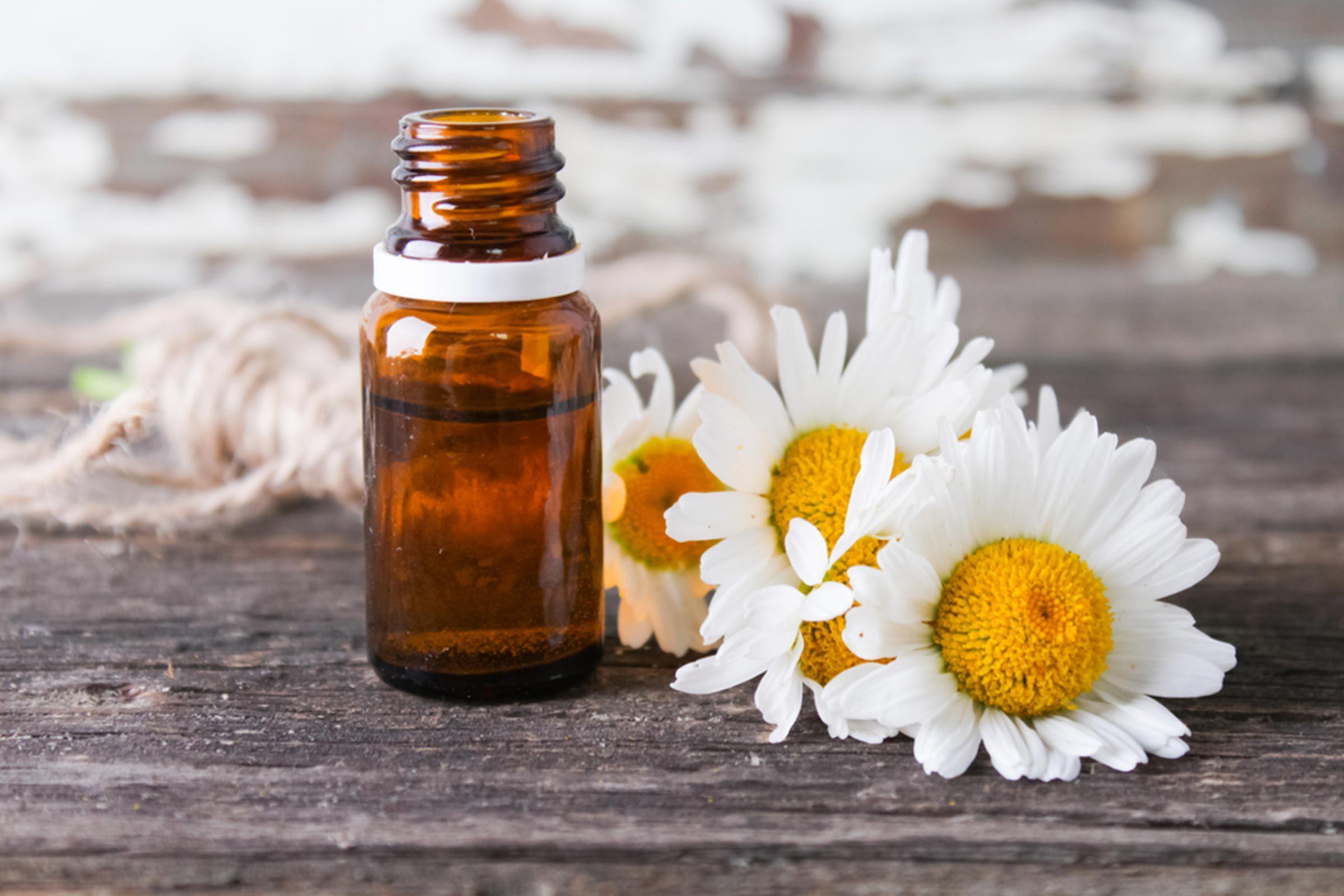 Huiles essentielles pour soulager les crampes menstruelles: L'huile de camomille romaine