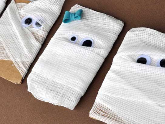 Décorations d'Halloween : Marque-place en momie