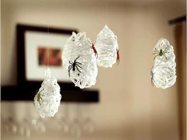Décorations d'Halloween: Paquets de toiles d'araignée