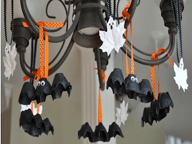 Chauves-souris et fantômes suspendus, pour Halloween