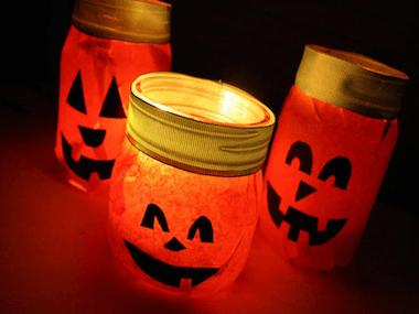 Lumineuses citrouilles d'Halloween