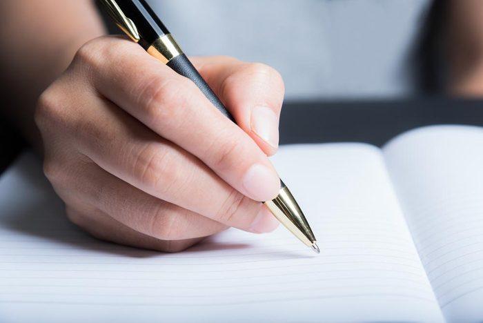 Évitez d'attraper un rhume en utilisant votre propre stylo.