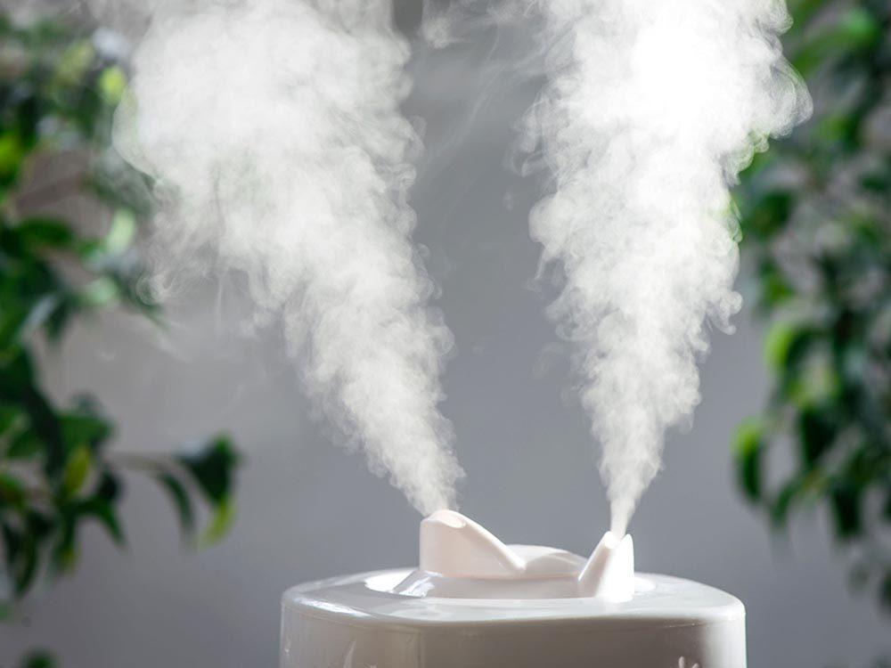 Pour ne pas attraper un rhume, humidifier l'air sec de votre intérieur.
