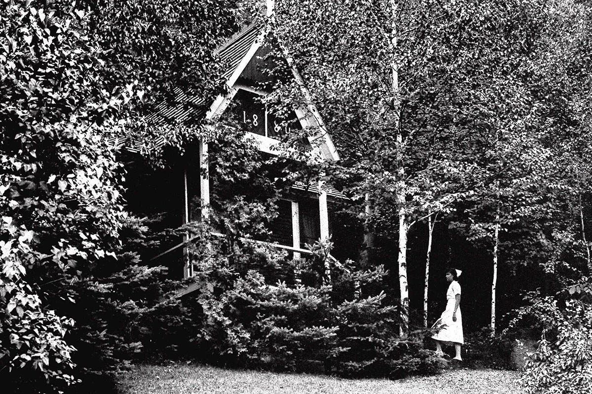 Chair de poule : photo du Trudeau Sanatorium.