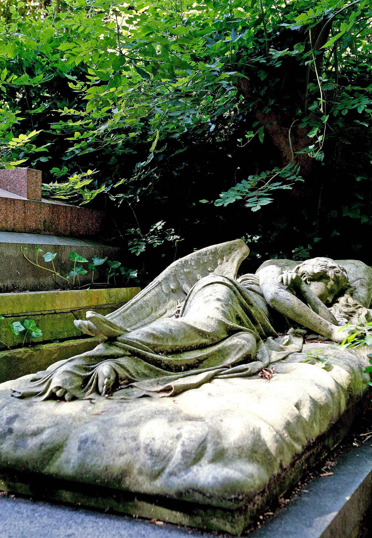 Chair de poule : photo du cimetière de Londres.