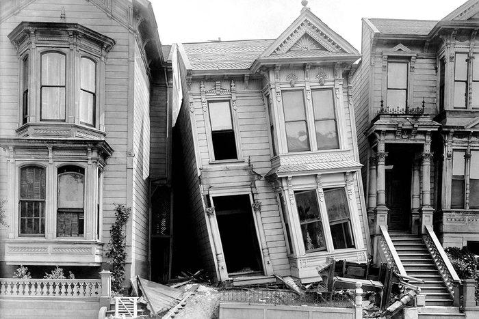 Chair de poule : photo prise après un tremblement de terre à San Francisco.