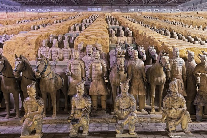 Une découverte archéologique a révélé 8000 soldats en terre cuite.