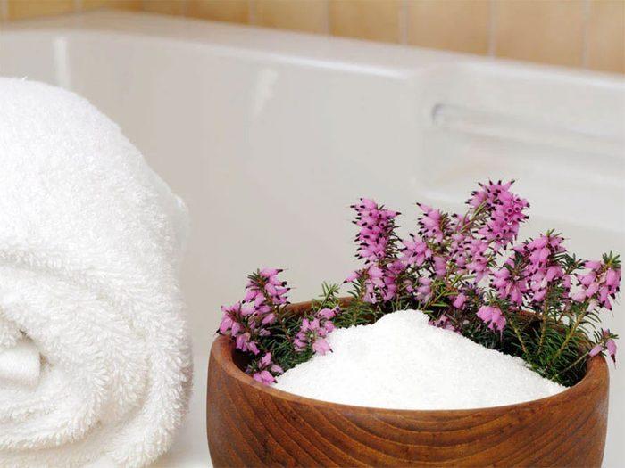 Les sels d'Epsom permet de relaxer et de détoxifier son corps naturellement.