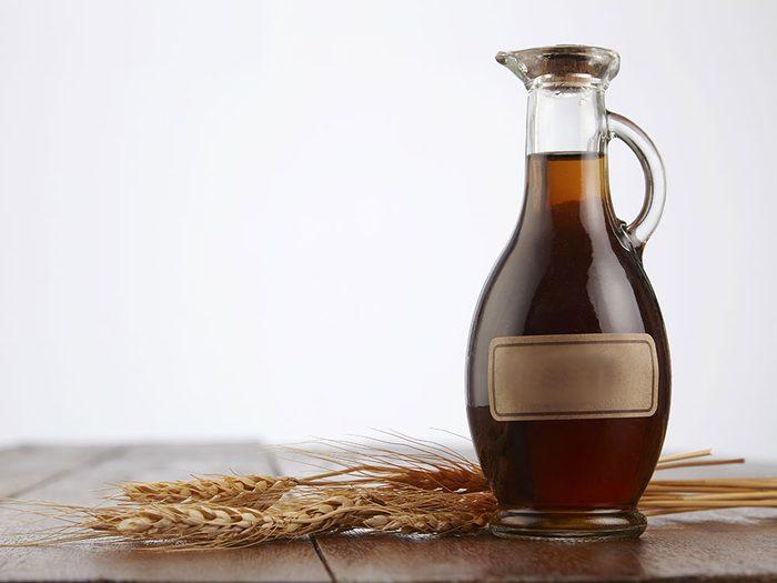 Le vinaigre de malt contient du gluten.