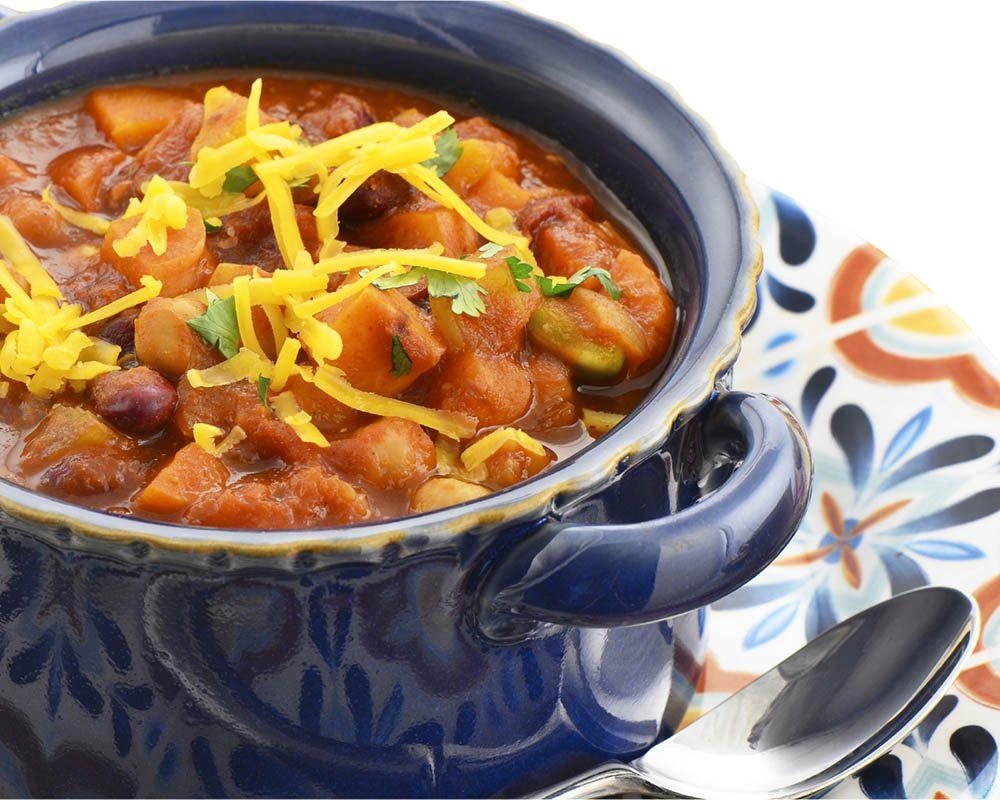 Lundi sans viande : dégustez un chili végétarien.
