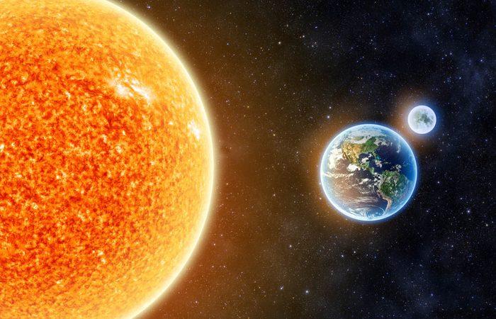 Le lune se situe à 384400km de la Terre.