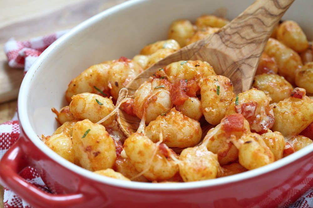 Meilleures recettes de pâtes : gnocchis sauce rosée.