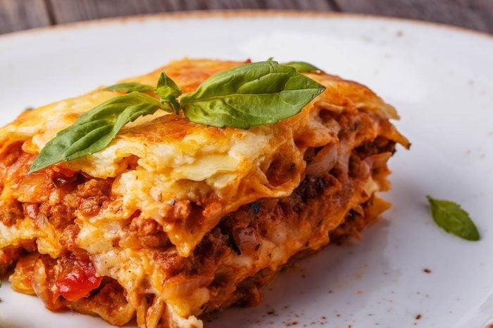 Meilleures recettes de pâtes : lasagne traditionnelle.