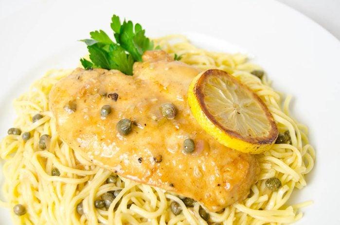 Meilleures recettes de pâtes : piccata de dinde et spaghettis.