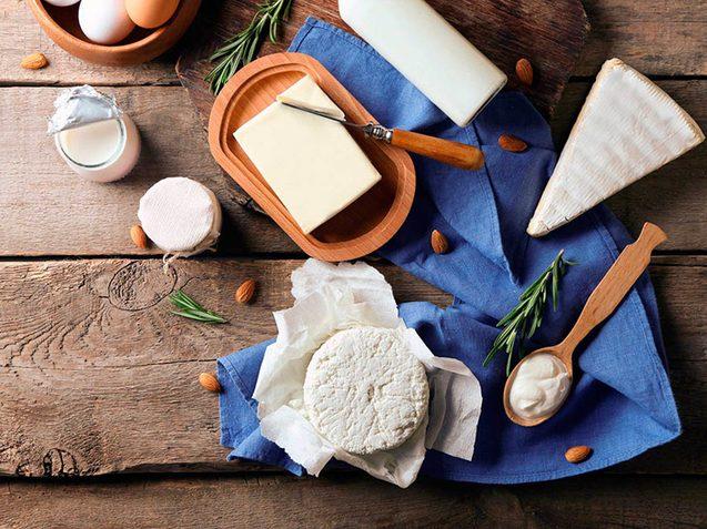 Métabolisme : modérez votre consommation de produits laitiers.