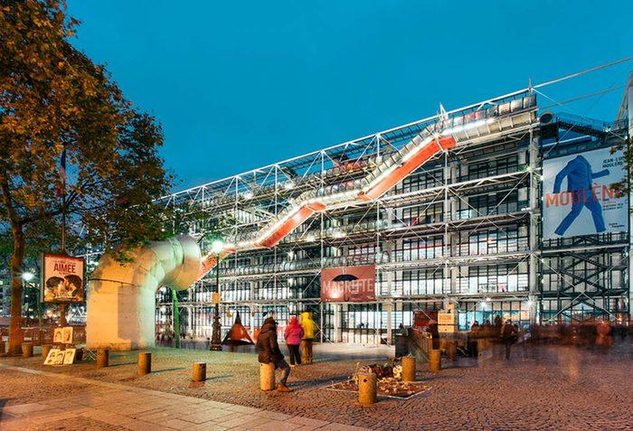 Musées du monde : Le Centre Pompidou fait partie des plus populaires.