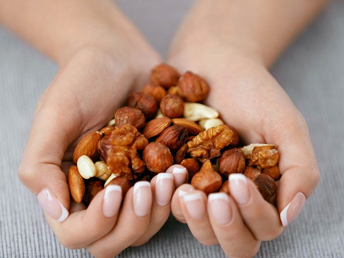 Les noix peut réduire la prise de poids.