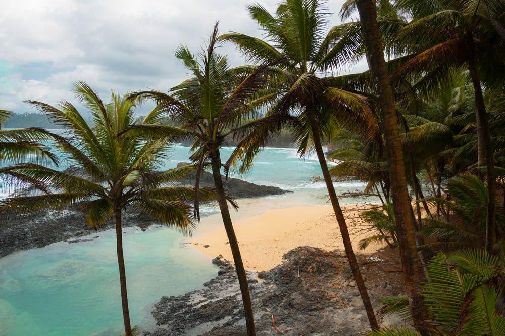 Petit pays : les deux îles de São Tomé-et-Príncipe se situent au large de la côte ouest de l'Afrique.