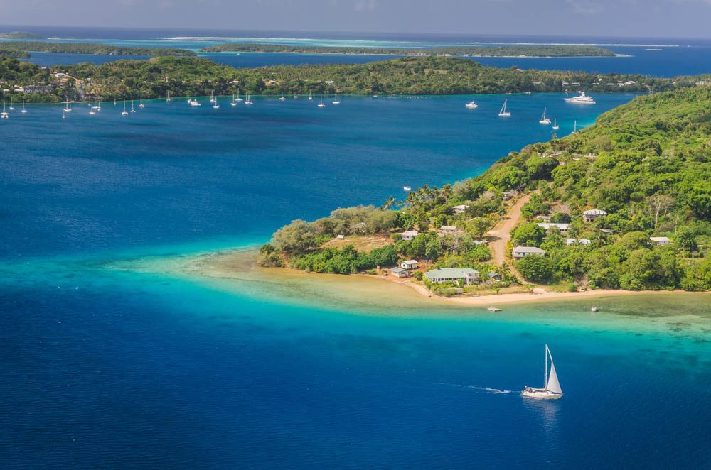 Le petit pays de Tonga est situé près des îles Fidji.