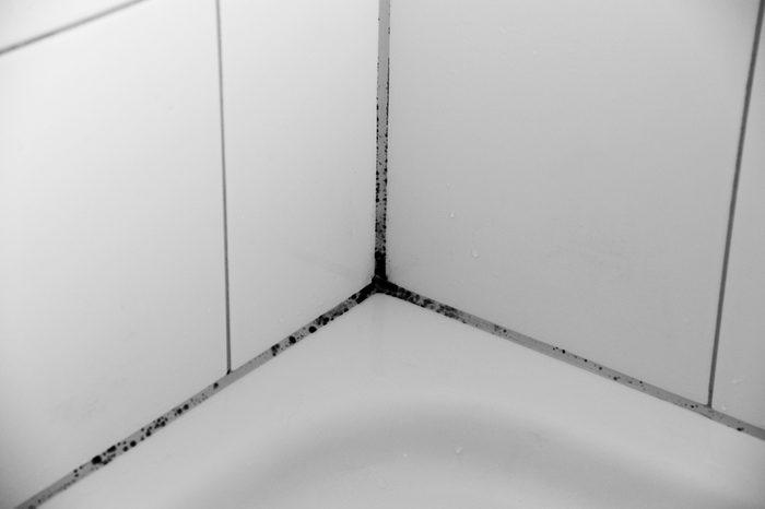 Produit fait maison pour la salle de bain: détachant à moisissure.