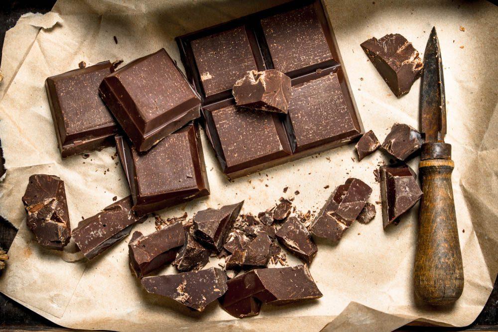 Ne gardez pas au réfrigérateur le chocolat.