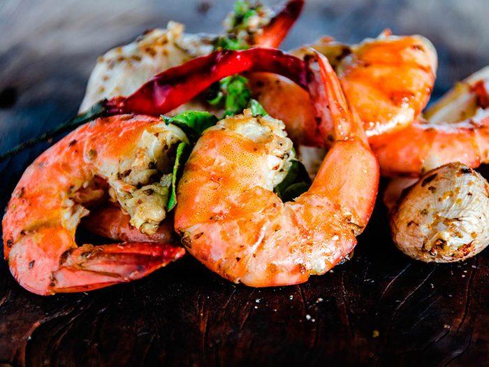 Superaliment : les crevettes peuvent protéger des maladies cardiaques.