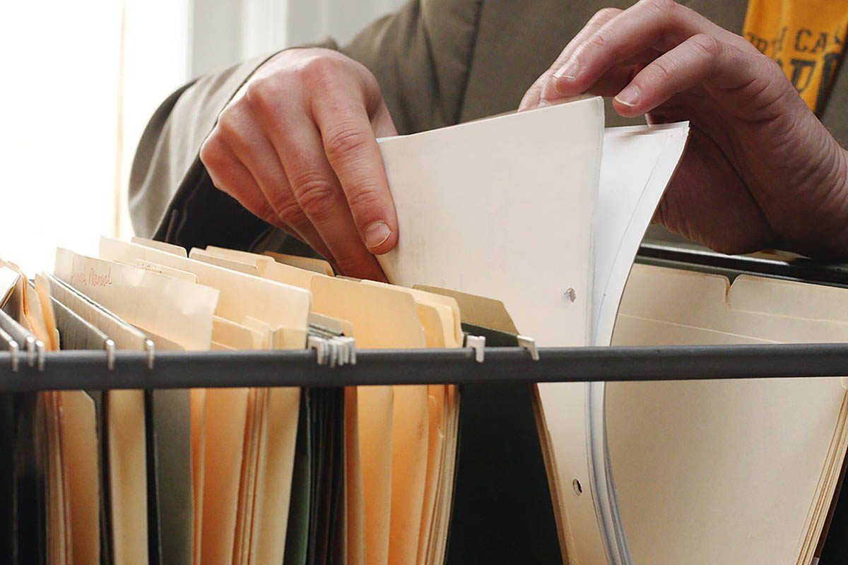 Tâches à faire : classer vos papiers.