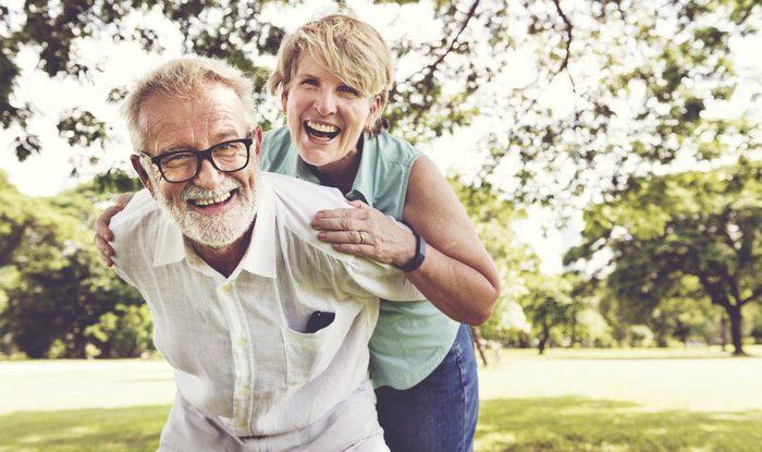 Un vieux couple est moins stressé.