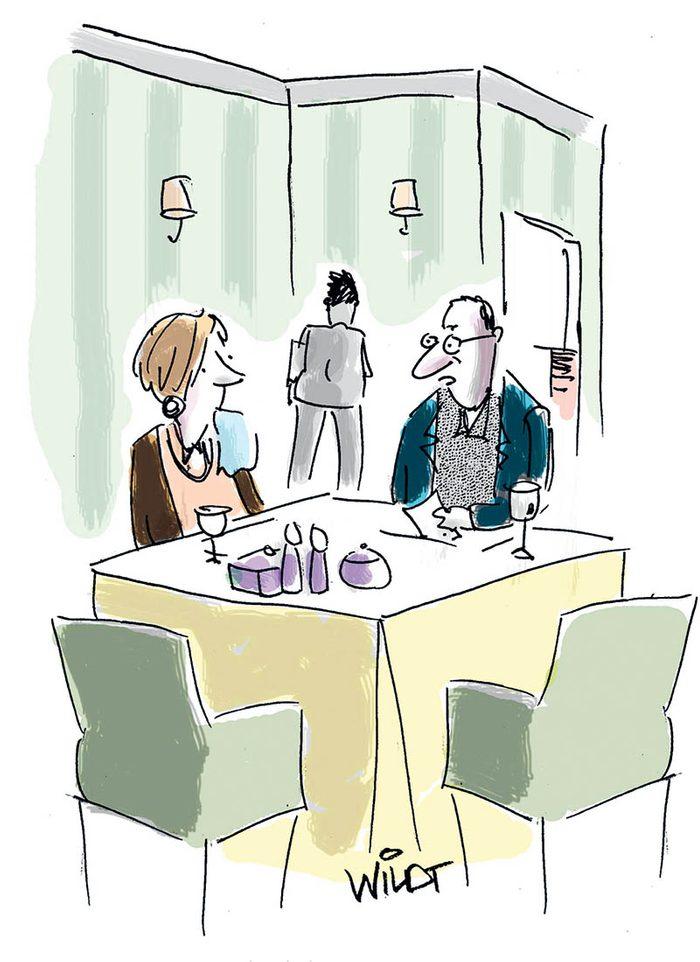 Blague : caricature des réseaux sociaux.