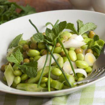Salade de gourganes, vinaigrette au paprika