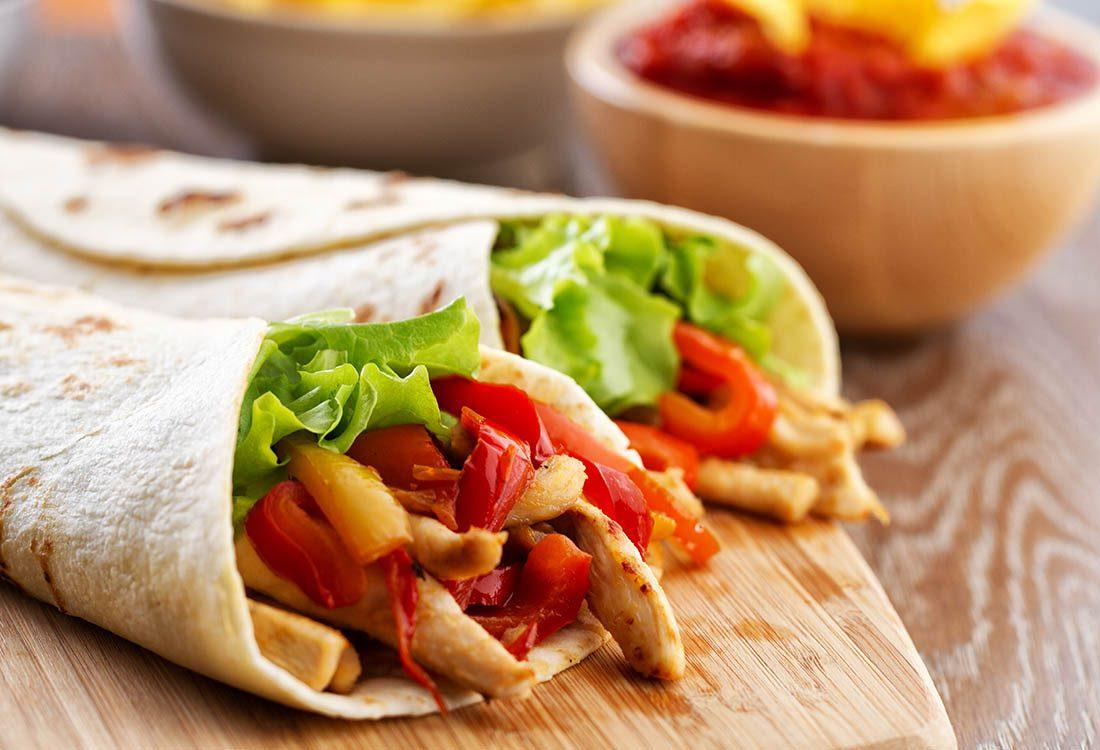 Boîtes à lunch : préparez un wrap au poulet.