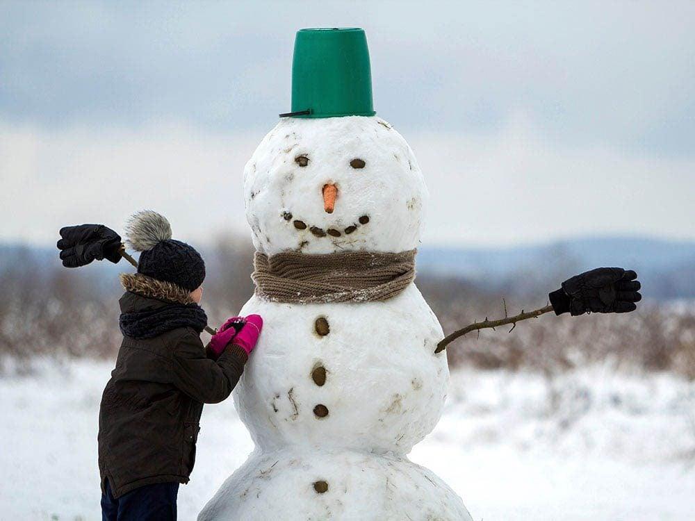 Pour faire un bonhomme de neige, donnez-lui une bonne structure.
