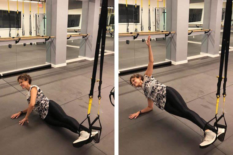 Exercices TRX : planche latérale
