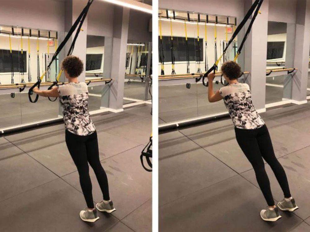 L'extension (développé) des triceps est l'un des exercices TRX que vous devriez essayer.
