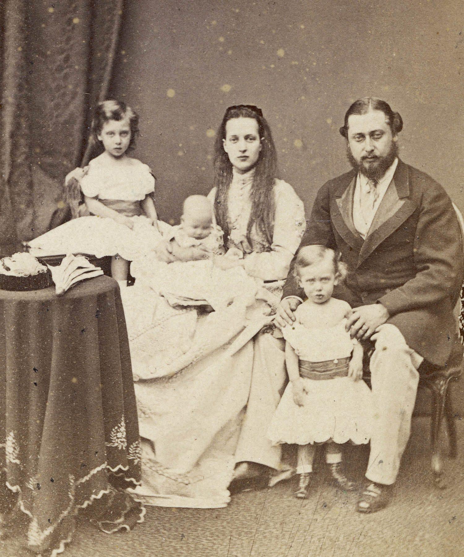 Famille royale : photo d'Édouard VII avant d'être roi.