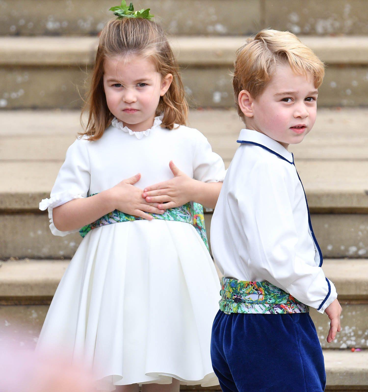 Famille royale : photo de la princesse Charlotte et le prince George.