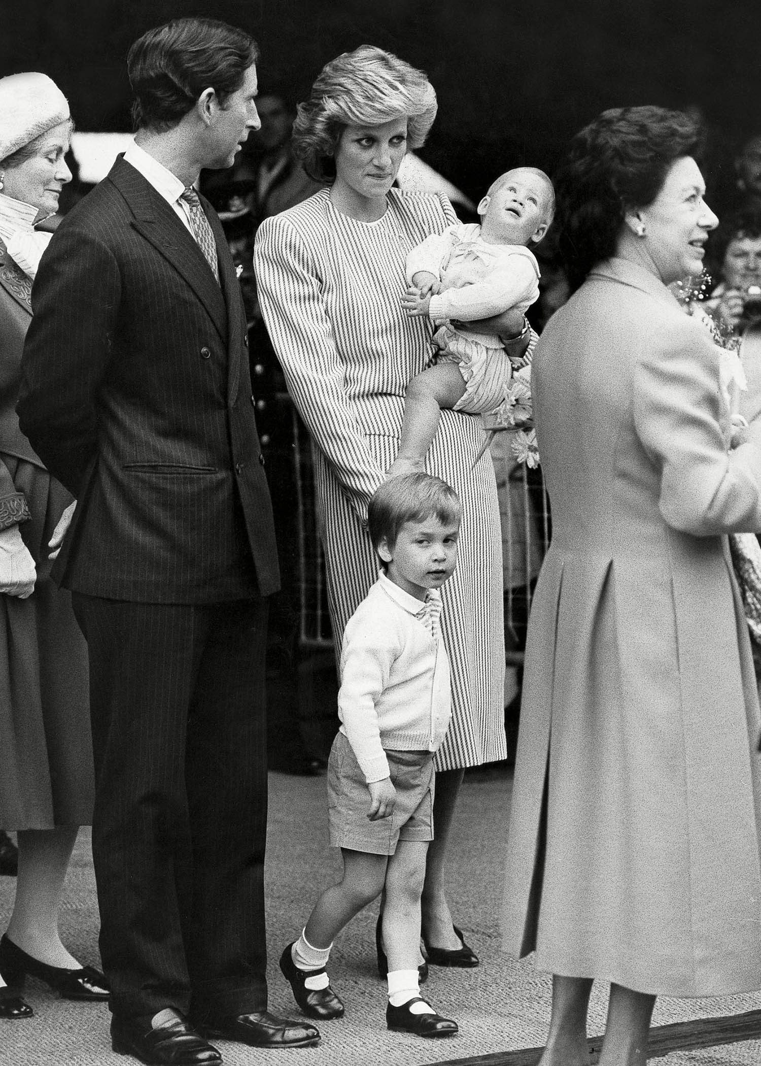 Famille royale : photo de la princesse Margaret et son neveu, le prince de Galles.